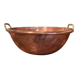19th Century French Copper Over Brass Jelly Bowl From Normandy For Sale
