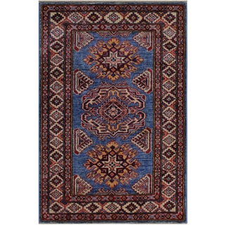 Rustic Tribal Arolph Hand-Knotted Wool Rug - 2′7″ × 3′7″ For Sale