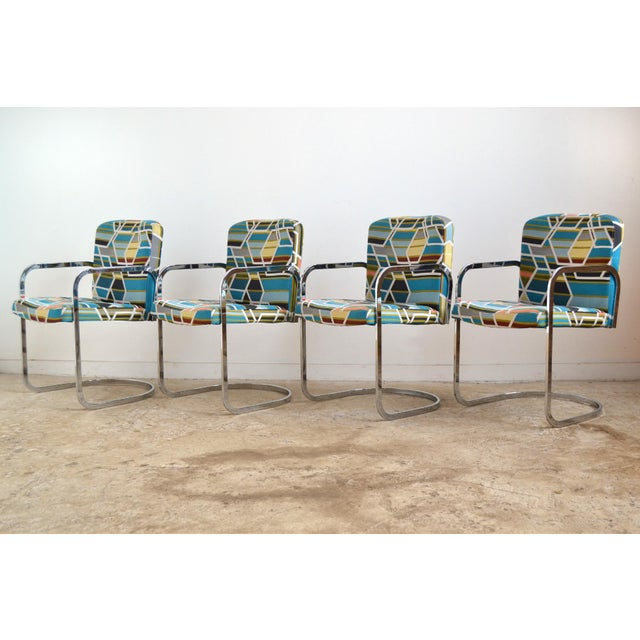 Design Institute of America Set of Four Chairs with Maharam Fabric - Image 2 of 11