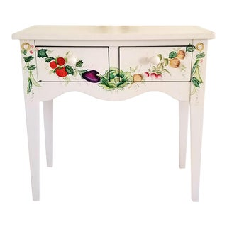 "Lexington ""Art Cetera Collection"" Hand-Painted Solid Wood Console Table For Sale"