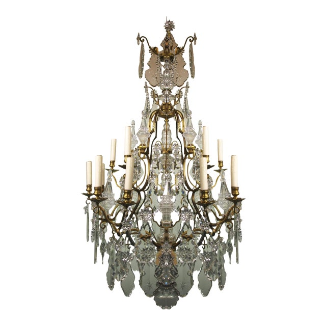 High end antique chandelier baccarat decaso antique chandelier baccarat image 1 of 8 aloadofball Choice Image