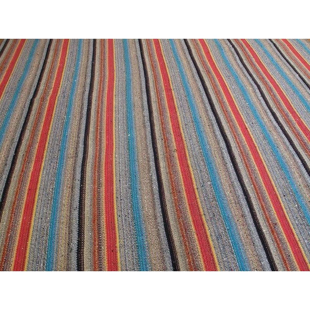 Large Kilim with Colorful Stripes For Sale - Image 4 of 8