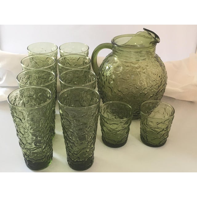 Vintage Avocado Green Lido Pitcher Set - Image 8 of 10