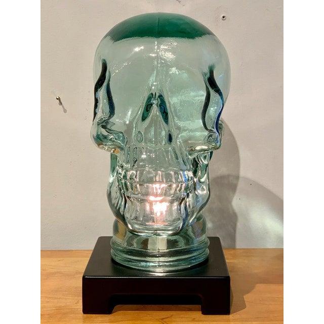 Modern Glass Skull Lamp For Sale - Image 9 of 12
