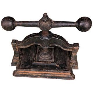Cast Iron Book Press Circa 1900 For Sale