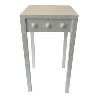 Contemporary Medina Artisan White Accent Table For Sale