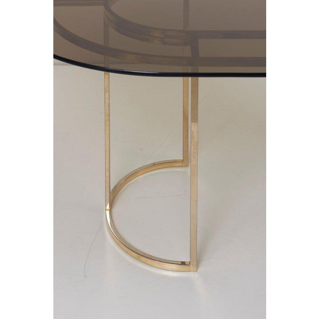 Romeo Rega Huge Brass and Glass Dining Table by Romeo Rega For Sale - Image 4 of 8