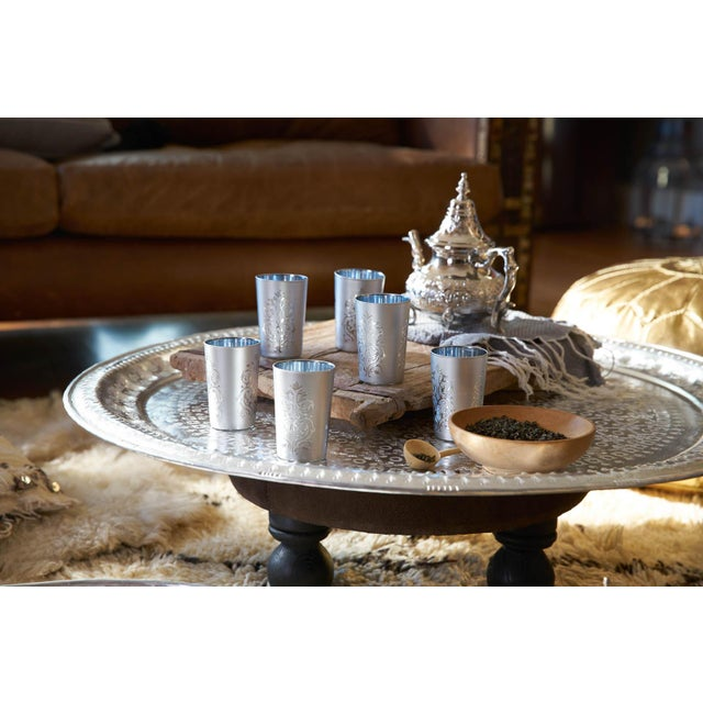 Moroccan Luxury Imilchil Silver Tea Glasses - Set of 6 For Sale - Image 4 of 4