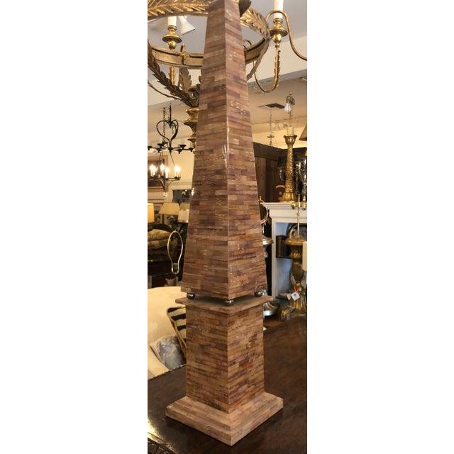 Neoclassical Huge Vintage Designer Trompe l'Oeil Obelisk For Sale - Image 3 of 4