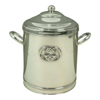 1970s Gucci Silver Ice Bucket For Sale