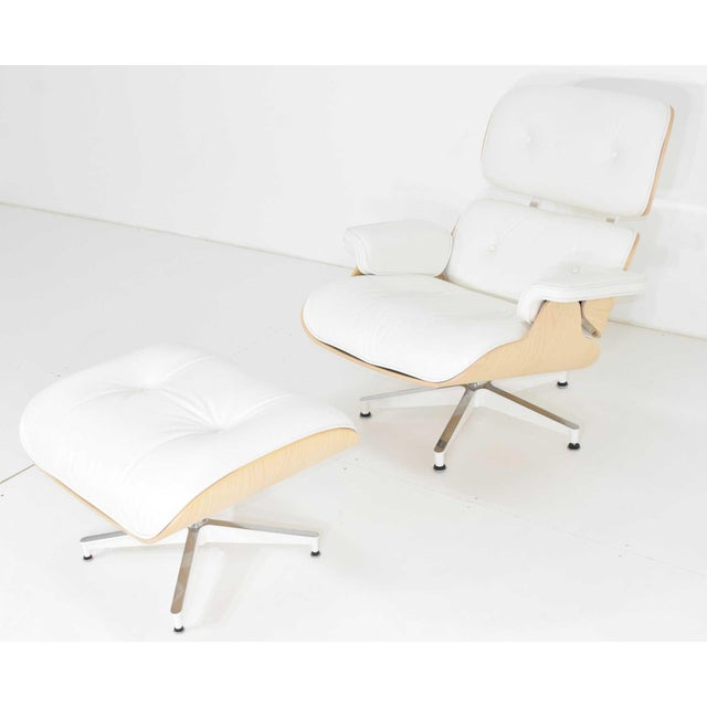 Animal Skin Charles & Ray Eames for Herman Miller Lounge Chair and Ottoman For Sale - Image 7 of 12