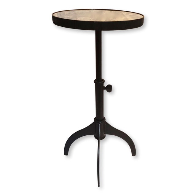 Lumiere Adjustable Black Mirrored Top Accent Table by Bernhardt For Sale - Image 11 of 11