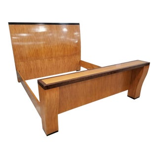Mid Century Modern Wood King Size Bedframe by Hickory White Furniture Co For Sale
