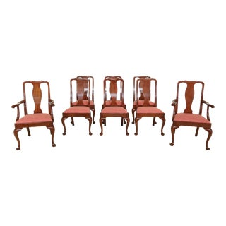 Set of 8 Henkel Harris Model 103 Cherry Dining Room Chairs For Sale