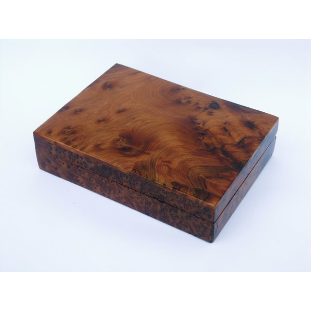 Decorative Juniper Burl Wood Box - Image 3 of 8