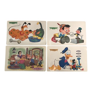 Vintage Disney Character Placemats - Set of 4 For Sale