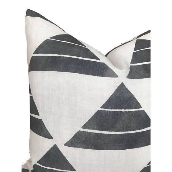Boho Chic Black Uroko Pillow Cover For Sale - Image 3 of 5