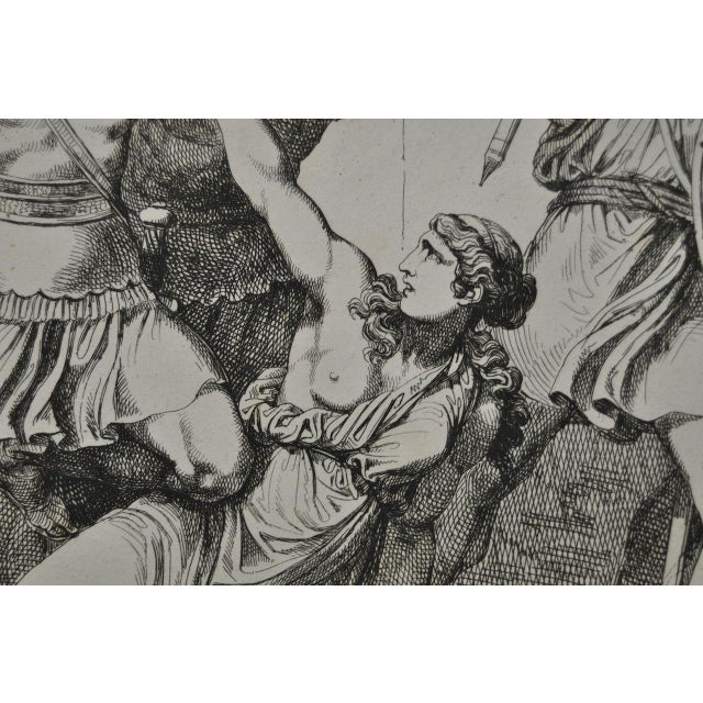 """Italian Bartolomeo Pinelli Engraving """"Killed in Betrayal"""" c. 1818 For Sale - Image 3 of 7"""