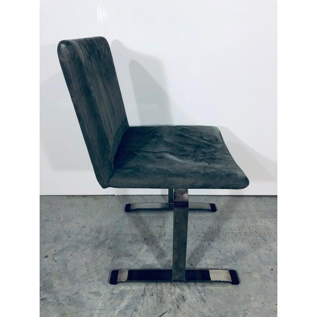 Seven Giovanni Offredi for Saporiti Chrome Dining Chairs For Sale In Miami - Image 6 of 12
