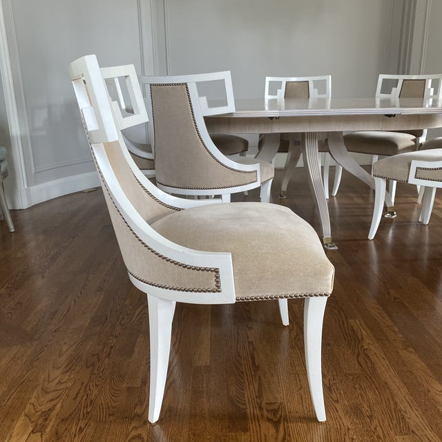 Thomas Pheasant for Baker Furniture Dining Chairs - Set of 8 For Sale In San Francisco - Image 6 of 12