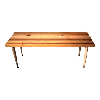 1970s Mid-Century Modern Butcher Block Coffee Table For Sale