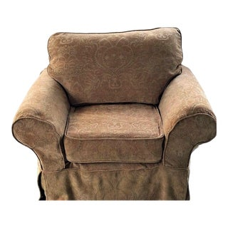 Beautiful Bernhardt Slipcovered Shabby Chic Cottage Armchair Very Comfortable! For Sale