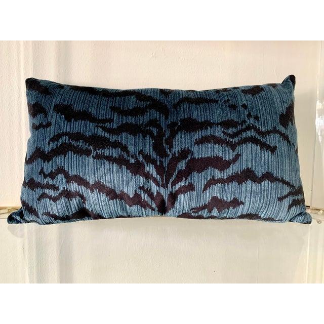 Scalamandre Scalamandre Blue Le Tigre Pillow For Sale - Image 4 of 4