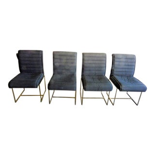 1970's Mid-Century Modern Milo Baughman Dining Chairs - Set of 4