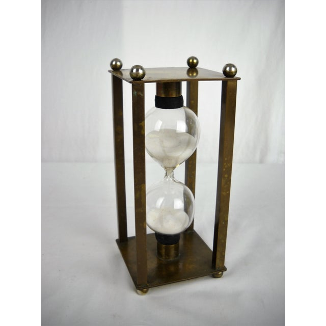 Vintage Brass Petite Hour Glass For Sale In Orlando - Image 6 of 8