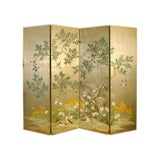 Image of 1990s Robert Crowder Four-Panel Hand Painted Screen For Sale