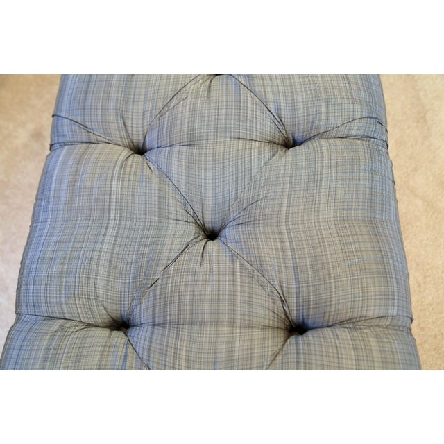 Vintage Curvy Tufted Bench For Sale - Image 4 of 5