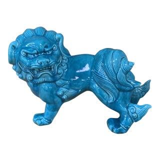 Vintage Turquoise Foo Dog For Sale
