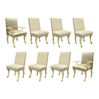 Late 20th Century Hoof Paw Foot Regency Dining Chairs- Set of 8 For Sale
