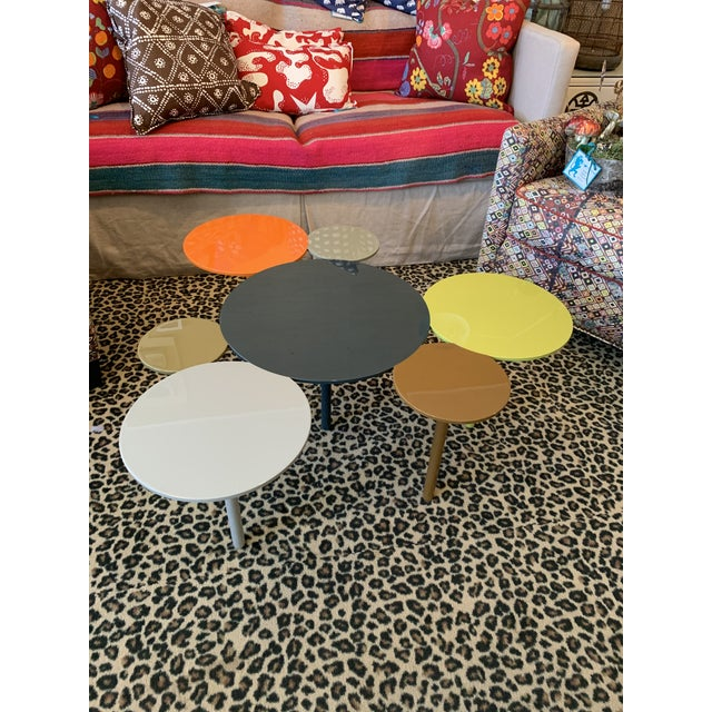Boho Chic Modern Painted Metal Coffee Table For Sale - Image 3 of 3