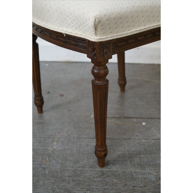 Antique Louis XVI Walnut Side Chairs - A Pair - Image 5 of 10