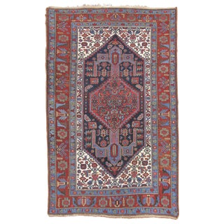 Central Western Persian Hamadan Woven Rug - 4′6″ × 6′5″ For Sale