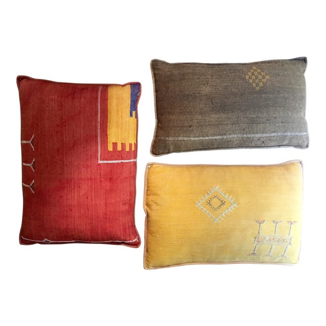 Moroccan Decorative Throw Pillows - Set of 3 - Image 1 of 5