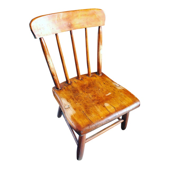 American Primitive Child's Windsor Chair - Image 1 of 5