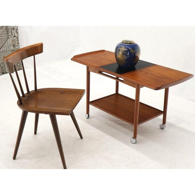 Danish Mid-Century Modern Teak Expandable Cart With One Leaf For Sale - Image 13 of 13