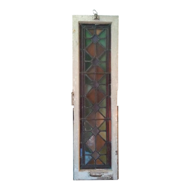 Antique Vintage Art Deco Stained Glass Window - Image 1 of 8