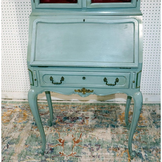 French Louis XV Style Secretary Desk For Sale - Image 4 of 12