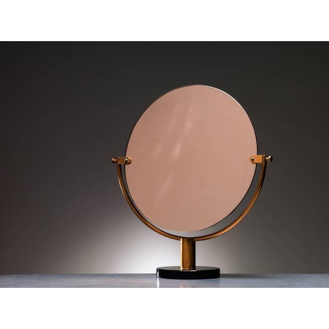 Copper Console or Table Mirror on Round Glass Foot, Germany, 1920s-1930s - Image 2 of 2