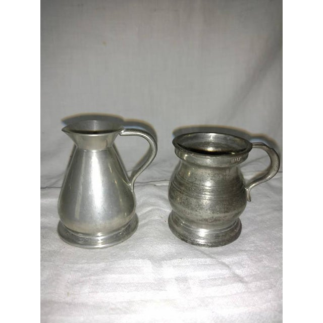 English Antique Pewter Bar Measures English Pub - A Pair For Sale - Image 3 of 6