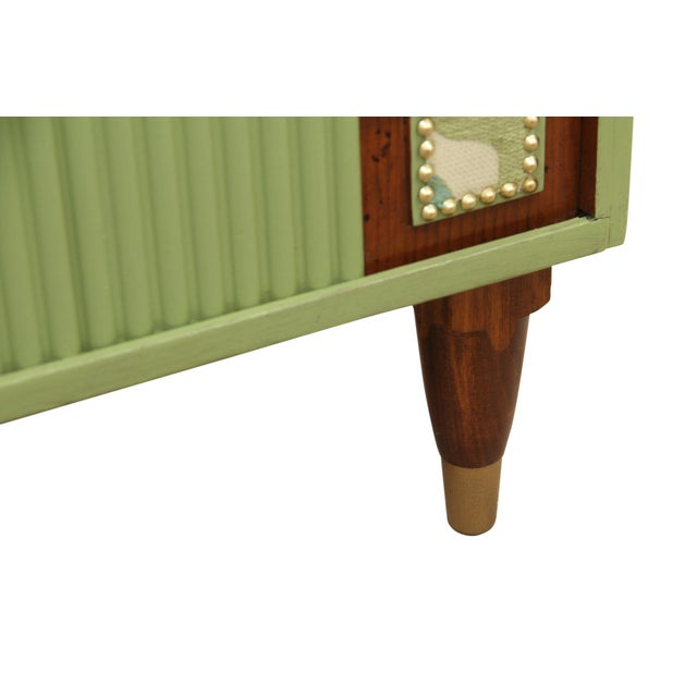 Mid Century Modern Cabinet in Green For Sale In Tampa - Image 6 of 8