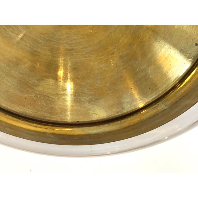 Brass Mid-Century Set of Lucite & Brass Catchall & Lighter For Sale - Image 8 of 13