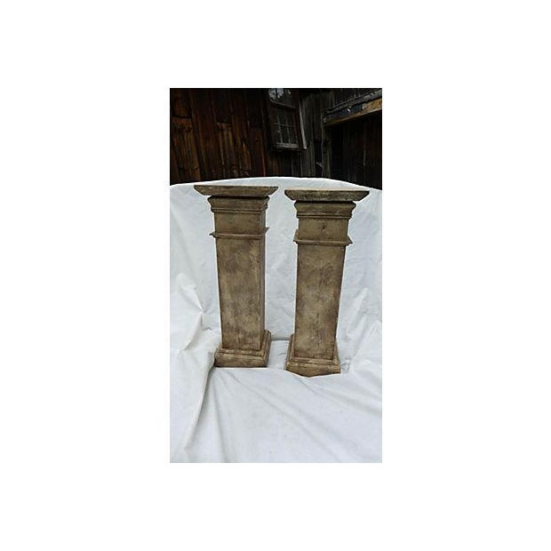 Architectural Decor Finish Wood Pedestals - A Pair - Image 3 of 7