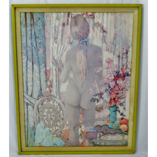 """Vintage Framed Alexander Sharpe Ross Print of Watercolor Titled """"Blue Ribbon"""" - RARE Condition consistent with age and..."""
