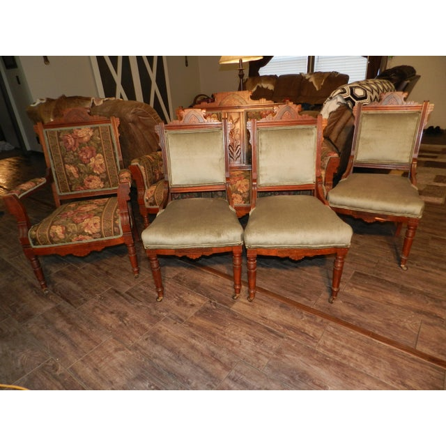 Eastlake Parlor Sofa & Chairs Set For Sale - Image 13 of 13
