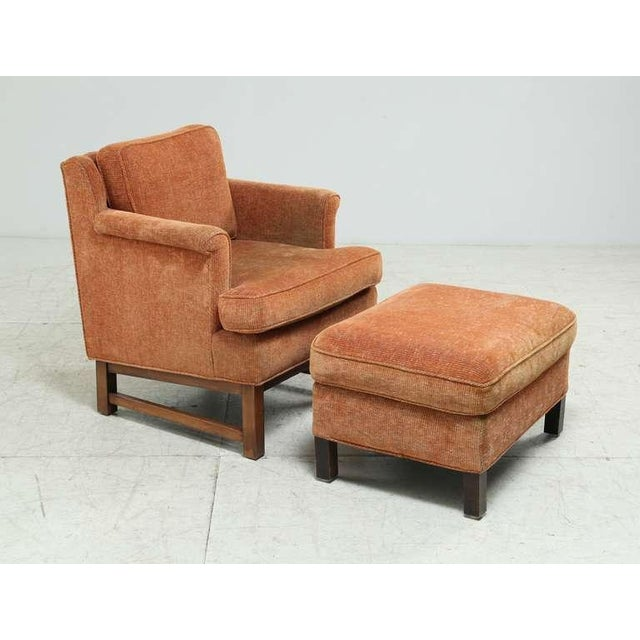 Mid-Century Modern Edward Wormley Lounge Chair with Ottoman For Sale - Image 3 of 9