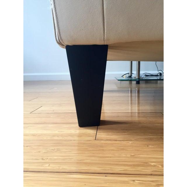 Modern White Leather Sofa - Image 4 of 7